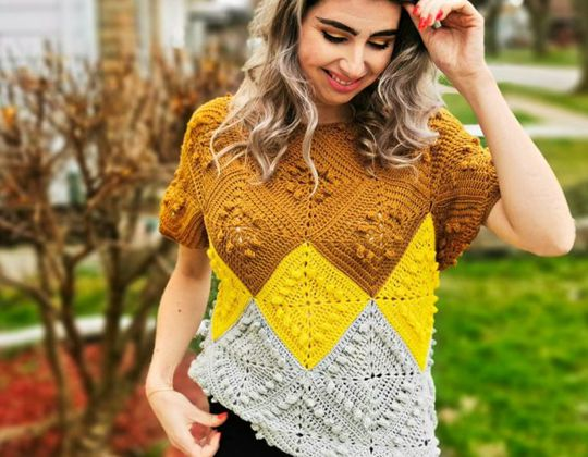 Crochet Anabelle Sava Top free pattern