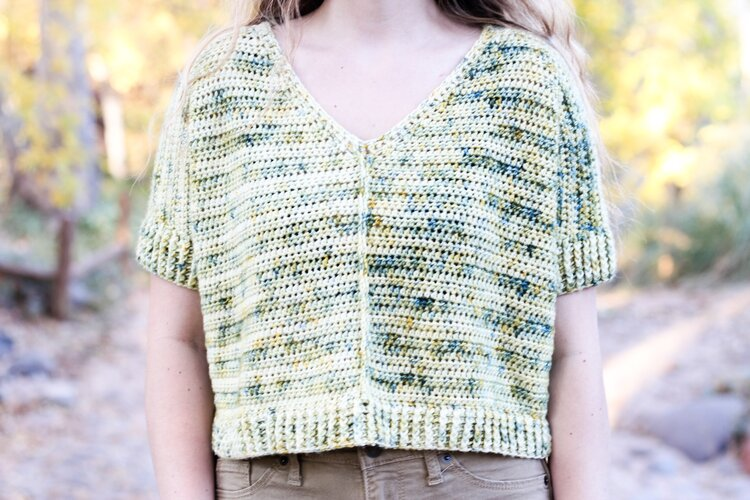 Crochet Brick House Top free pattern