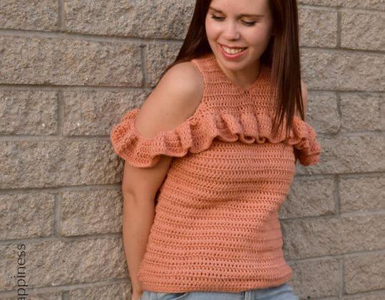 Crochet Cold Shoulder Crochet Top free pattern