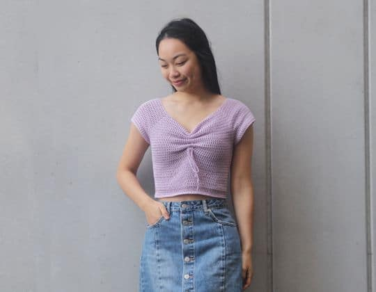 Crochet Magnolia Sweetheart Crop free pattern