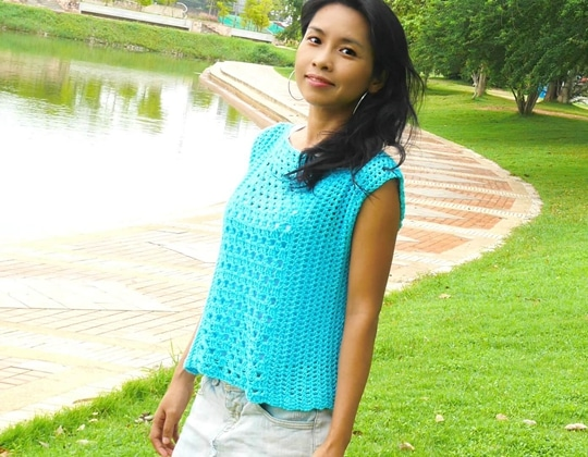 Crochet Modern Summer Top free pattern