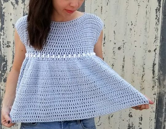 Crochet Peasant Top free pattern