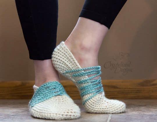Crochet Branwen Slippers free pattern