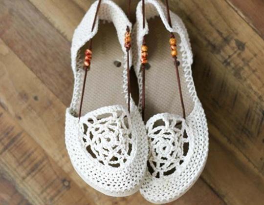 Crochet Dream Catcher Sandals free pattern