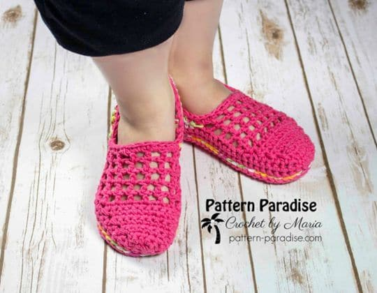 Crochet Jelly Slippers free pattern