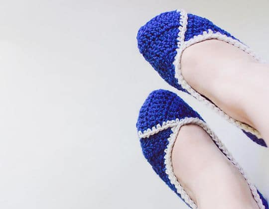 Crochet Lizzie Slippers free pattern