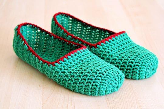 Crochet Simple Slippers free pattern