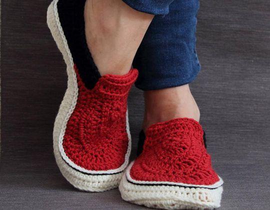 Crochet Slip-Ons Slippers easy pattern