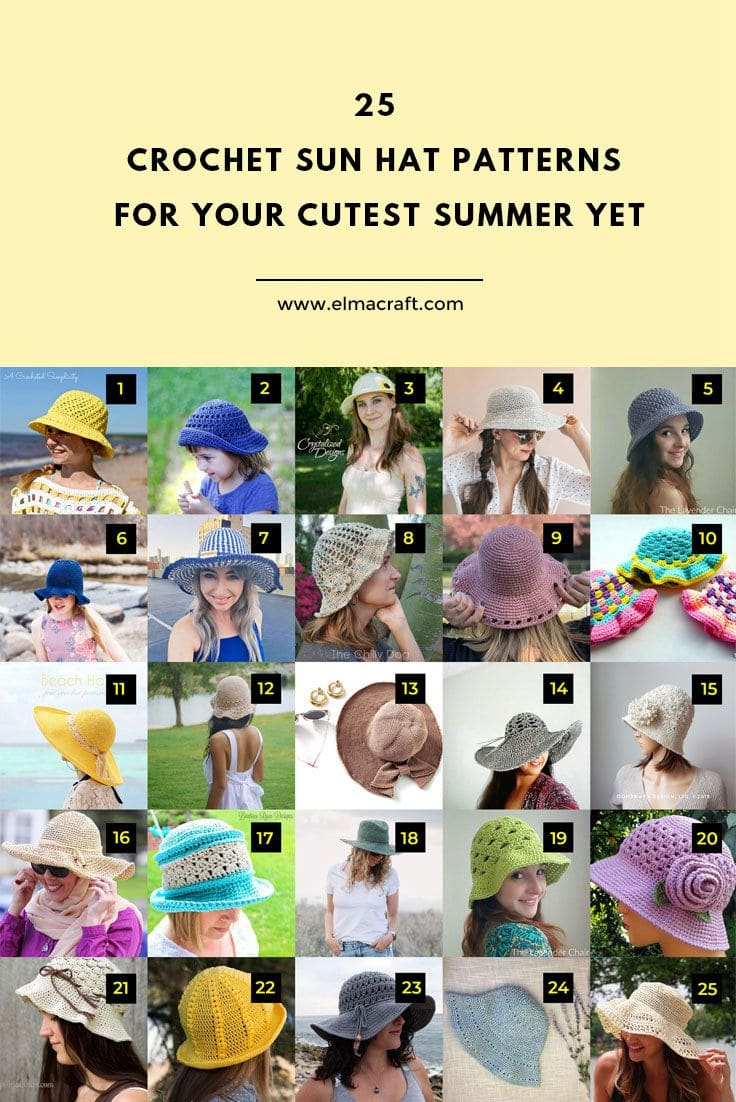 25 Crochet Sun Hat Patterns for Your Cutest Summer Yet