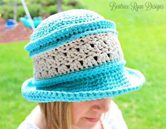 Crochet Amazing Grace Blissful Summer Hat free pattern