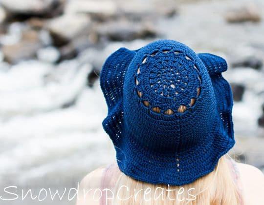 Crochet Bluebell Sunhat free pattern