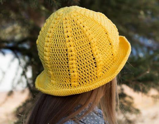 Crochet Daffodil Sunhat free pattern