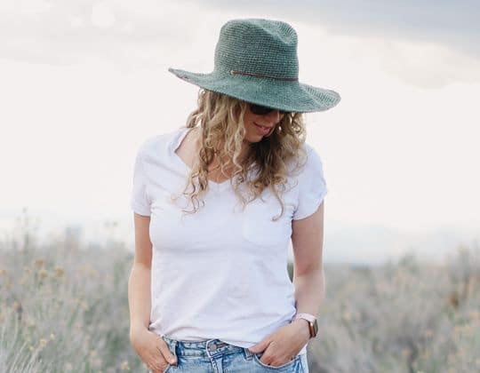 Crochet Fedora Sun Hat free pattern