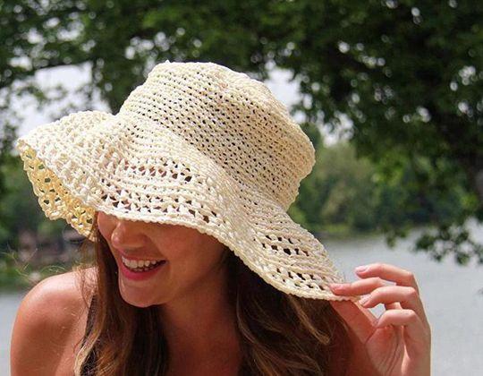 Crochet Floppy Sun Hat free pattern