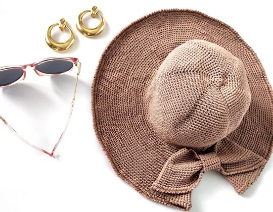 Crochet Floppy Sunhat with Bow Easy pattern
