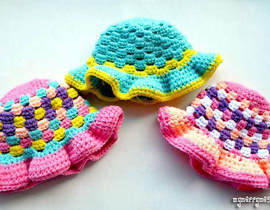 Crochet Granny Stitch Sun Hat free pattern
