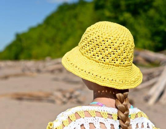 Crochet Makin' Lemonade Sunhat free pattern