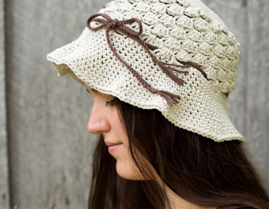 Crochet Pebble Beach Hat free pattern