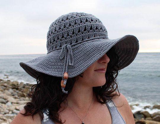 Crochet  Petals Sun Hat easy pattern