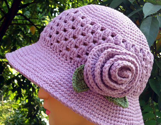 Crochet Sun Hat for My Mom free pattern