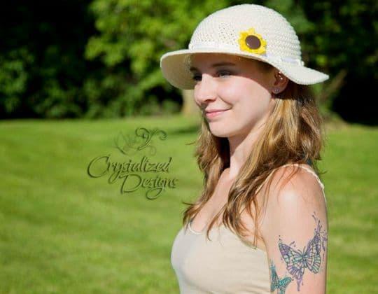 Crochet Sunflower Sun Hat free pattern