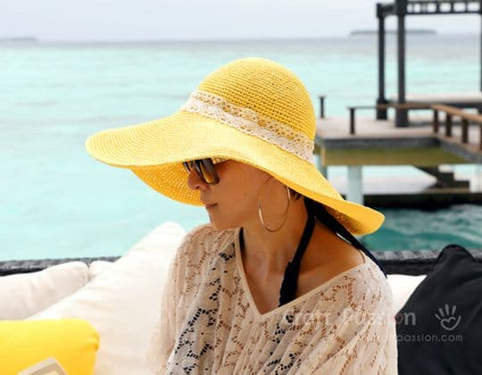 Crochet Wide Brim Beach Hat free pattern