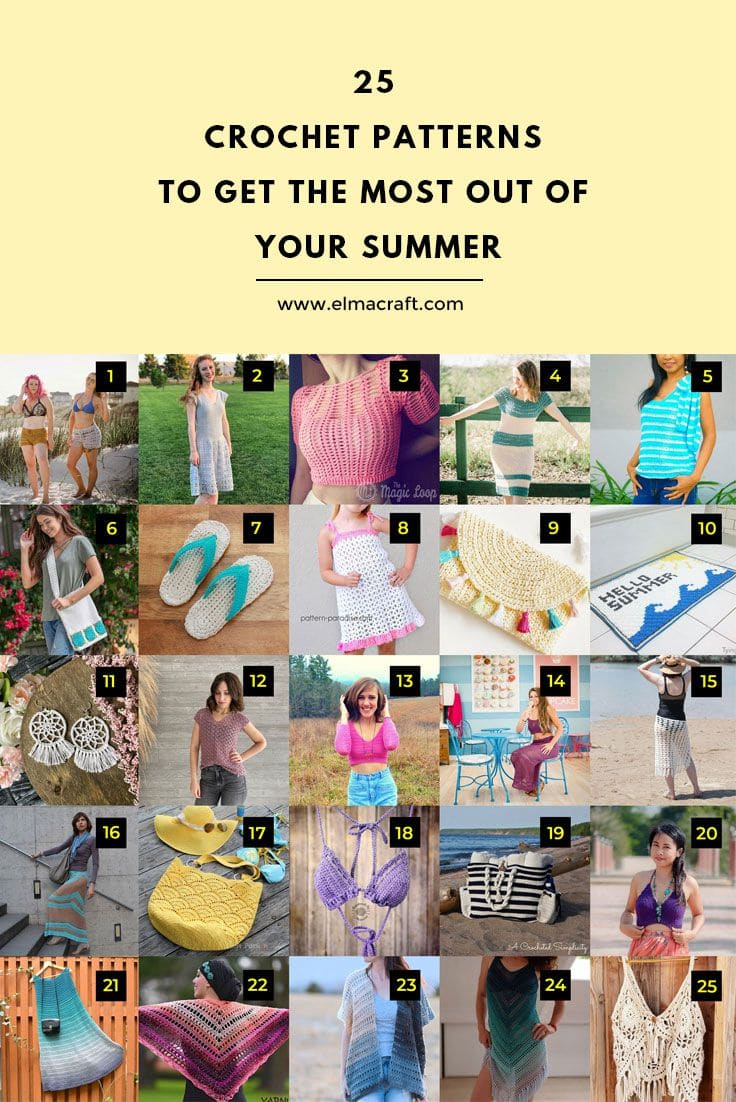 25 Crochet Patterns to Get the Most Out of Your Summer