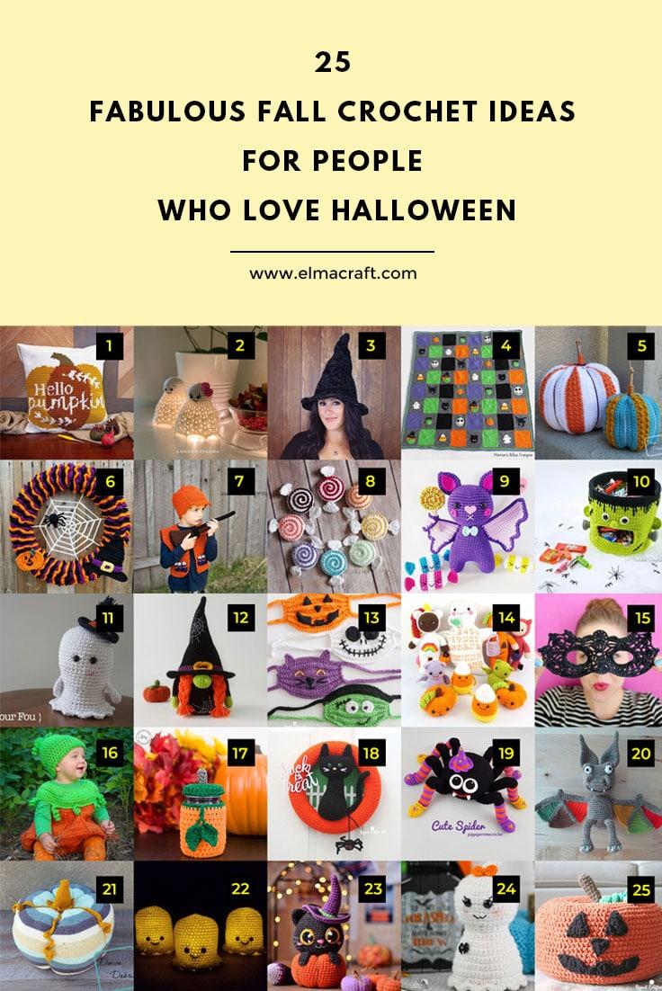 25 Fabulous Fall Crochet Ideas for People Who Love Halloween