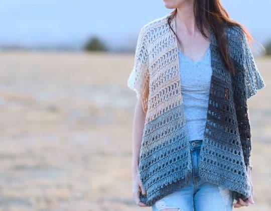 Crochet Barcelona Summer Kimono Cardigan free pattern