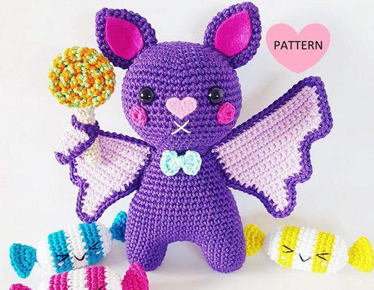 Crochet Bats Need Candy Too Easy pattern - Crochet Pattern for Halloween