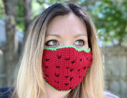 Crochet Customizable Face Mask free pattern - Crochet Pattern for Face Mask