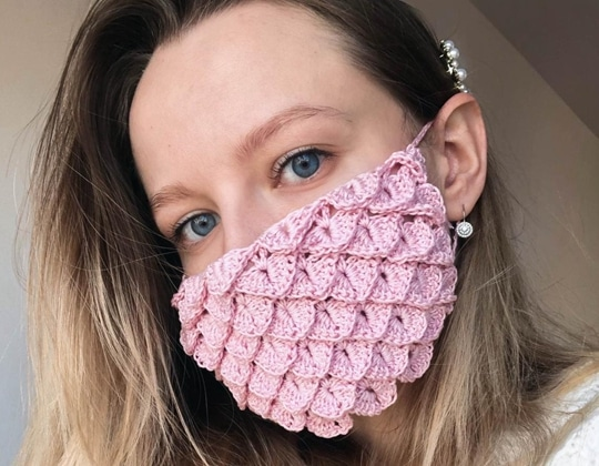 Crochet Dragon Face Mask easy pattern - Crochet Pattern for Face Mask