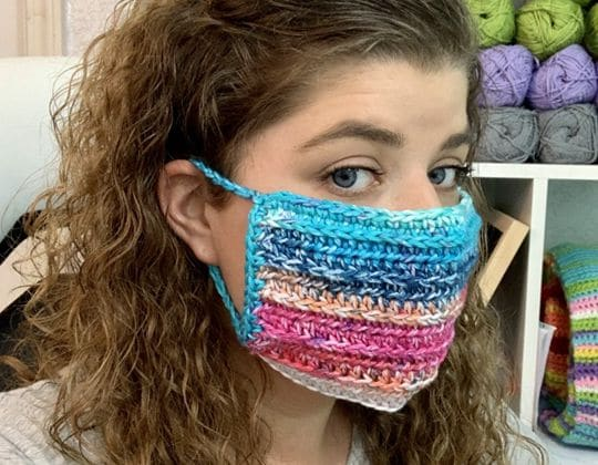 Crochet Face Mask Cover Up free pattern - Crochet Pattern for Face Mask
