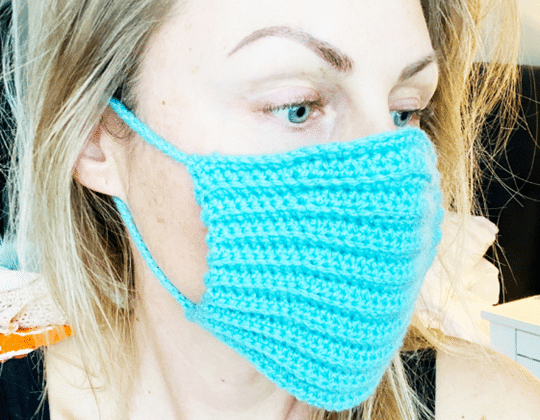 Crochet Face Mask Cover free pattern - Crochet Pattern for Face Mask