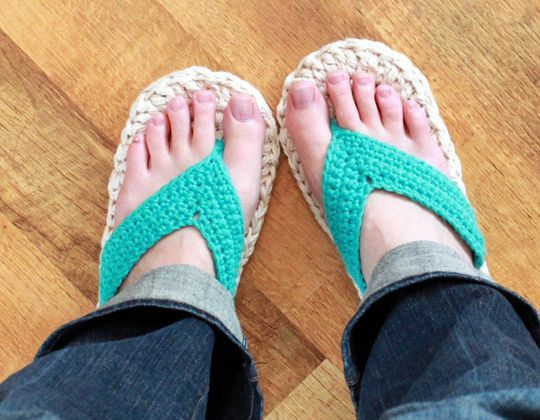 Crochet Flip Flops easy pattern