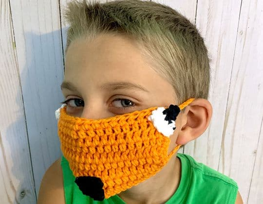 Crochet Fox Face Mask Cover Up free pattern - Crochet Pattern for Face Mask