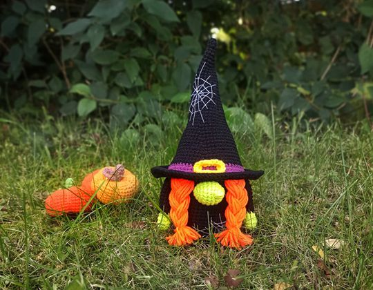 Crochet Halloween  Gnome Easy pattern - Crochet Pattern for Halloween