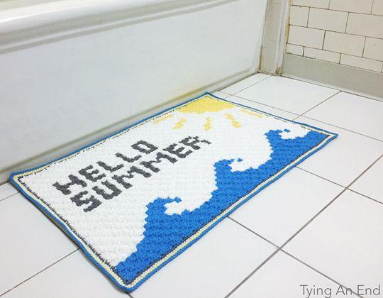 Crochet Hello Summer Bath Mat free pattern