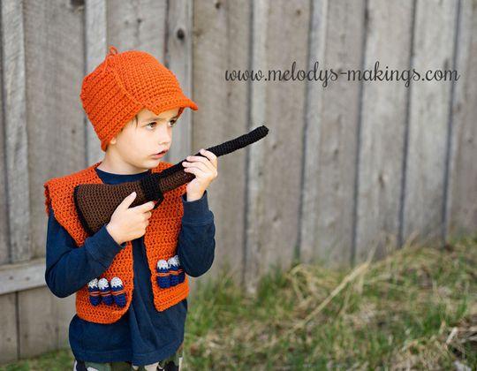 Crochet Hunting Vest Easy pattern - Crochet Pattern for Halloween