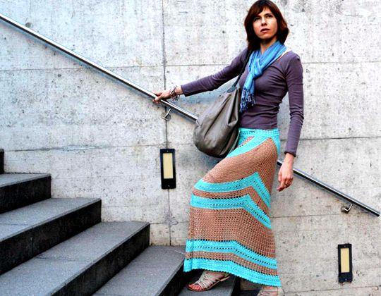 Crochet Maxi Skirt easy pattern