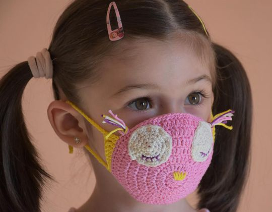 Crochet Pink Owl Mask easy pattern - Crochet Pattern for Face Mask