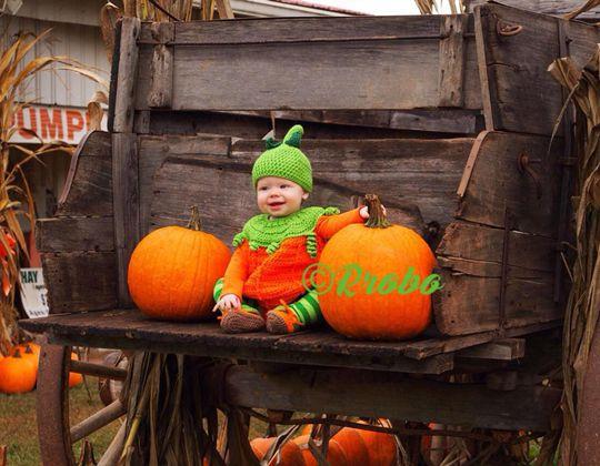 Crochet Pumpkin Costume Easy pattern - Crochet Pattern for Halloween