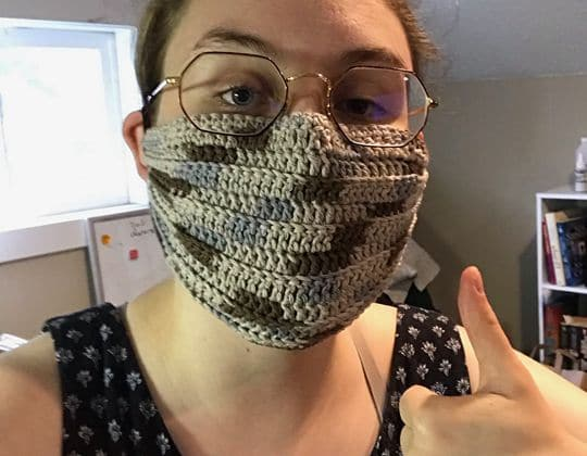 Crochet Quick and Easy Face Mask free pattern - Crochet Pattern for Face Mask