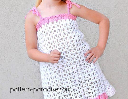 Crochet Summer Cheer Dress and Kerchief Set free pattern