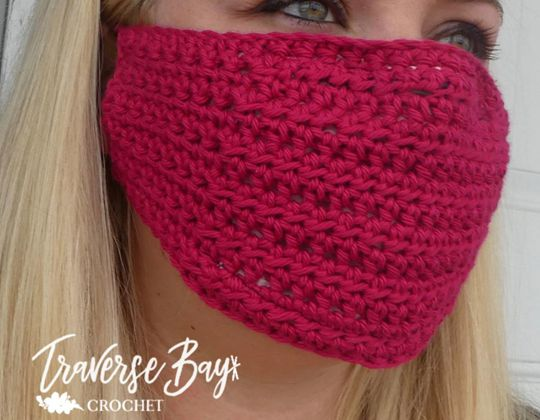 Easy DIY Crochet Fask Mask free pattern - Crochet Pattern for Face Mask