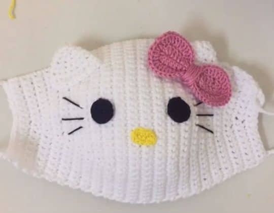 Hello Kitty Crochet Face Mask free pattern - Crochet Pattern for Face Mask