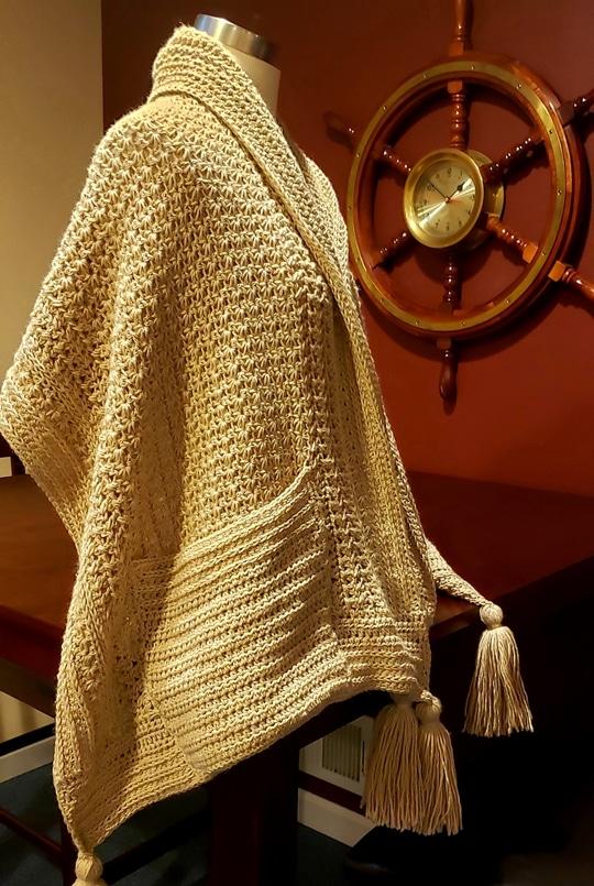 Crochet Friendship Pocket Wrap free pattern - Crochet Pattern for Pocket Shawls
