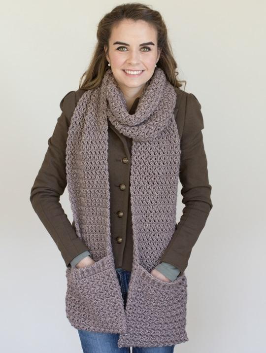 Crochet Pocket Mulberry Scarf free pattern - Crochet Pattern for Pocket Shawls