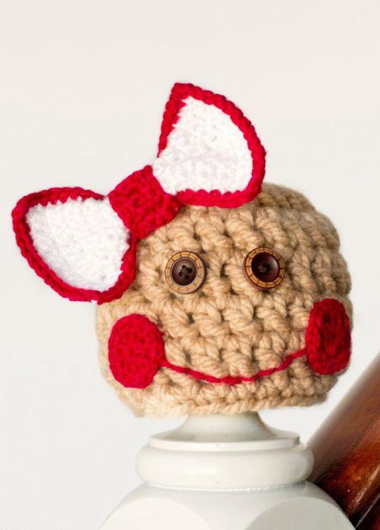 Crochet Baby Gingerbread Hat free pattern - Crochet Pattern for Christmas Beanie