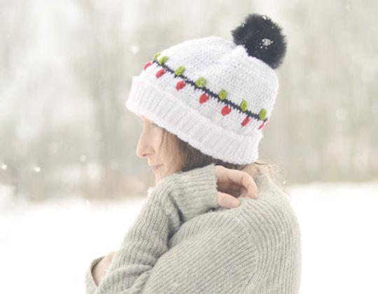 Crochet Christmas Vacation Beanie free pattern - Crochet Pattern for Christmas Beanie